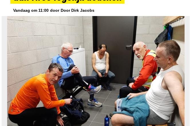 Diepenbeekse sporters willen met meer dan twee tegelijk douchen.